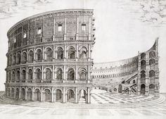 The Colosseum, built in AD 80 by Italian School