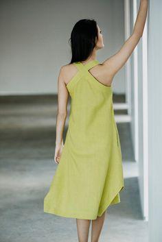 Linen Dress Motumo 15S9 by MotumoLinen on Etsy