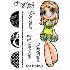 """SOME ODD GIRL Clear Stamps - THANK YOU MAE, 4""""x3"""""""