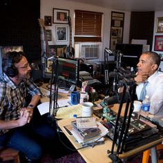 WTF With Marc Maron from Barack Obama's Coolest Pop Culture Moments  WTF indeed! No big deal, Obama was in Los Angeles already so why not make a stop at the comedian's Highland Park home, where he records his cult-favorite podcast.