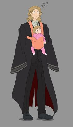 Bring Your Kid To Work Day by AriamJan on DeviantArt Tbh if Elias stepped outside like this I'm P sure the entirety of Tir na Nog would descend upon the house to see the baby Manga, Elias Ainsworth, Chise Hatori, Character Inspiration, Character Design, Chihiro Y Haku, Anime Faces Expressions, The Ancient Magus Bride, Fanarts Anime