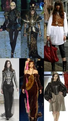 Top right could serve as a simple inspired fashion for attending Renaissance fair.