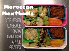 Moroccan meatballs and baba ganoush bento in Monbento #paleo #whole30
