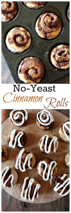 No-Yeast Cinnamon Rolls- EASY recipe!