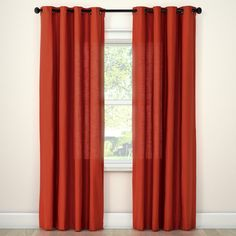 Finish the look of your home with Natural Solids Window Treatments. This curtain panel comes in a choice of sizes and colors and is machine washable. Blackout Curtains, Panel Curtains, Orange Curtains, Light Blocking Curtains, Natural Weave, T Home, Room Essentials, Window Panels, Curtain Rods