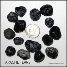 Apache Tears Natural Stone by Crystal Vibrations - Creations by Sunscape Healing Stones, Crystal Healing, Apache Tears Stones, Sage Smudging, Nail Growth, Boost Immune System, Nature Spirits, Muscle Spasms, Stone Pictures