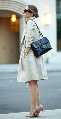 office trench coat outfit idea