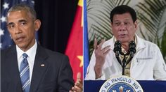 What's more concerning is that the philippine people voted this ass into office as their president.  US President Barack Obama calls off a meeting with Philippine President Rodrigo…