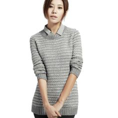 nice D-SUN Women's New Casual Pure Thicken Wool Bottoming Sweater