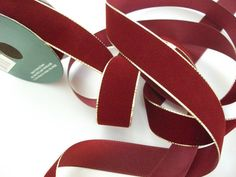 RibbonBy The SpoolBurgundy with Gold Edging9 by mightymadgescloset, $2.90