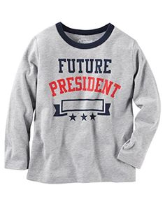 Oshkosh Boys Long Sleeved Future President Grey  Navy 7 *** Read more reviews of the product by visiting the link on the image.Note:It is affiliate link to Amazon.