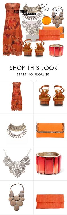 """Color´s - Plus size"" by alice-durica ❤ liked on Polyvore featuring Lissmore, STELLA McCARTNEY, Oscar de la Renta, Mata Traders, Saveén and Hermès"