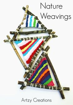 Make these awesome Nature Weaving using sticks. A great project for kids.