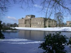 The north front of Lyme Park covered in snow © National Trust  AKA Pemberley