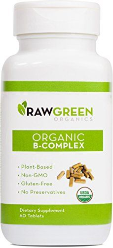 Raw Green Organics  Organic BComplex  Plant Based Vitamin B Complex to Support Energy and Nervous System  60 Tablets *** You can get additional details at the image link.