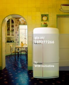 Signs You Need a New Fridge - Replacing Your Refrigerator - Good Housekeeping Photography Series, Interior Photography, Color Photography, Vintage Photography, Vintage Kitchen, Retro Vintage, Eclectic Taste, Framed Prints, Canvas Prints