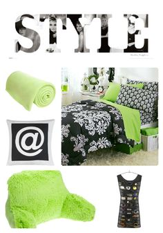 Lime Green and Victorian Damask with STYLE wall canvas and colored accents