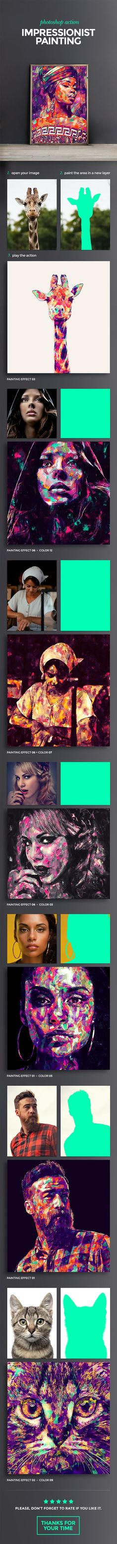 Impressionist Painting Photoshop Action. Download: https://graphicriver.net/item/impressionist-painting-photoshop-action/16924846?s_rank=58?ref=thanhdesign