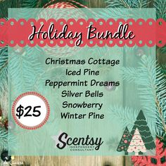 Holiday 6-Pack Bundle, order today at www.smellarific.com. Flyer by: Angela O'Hare