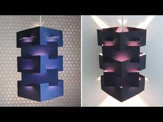 DIY lamp for pendant light - learn how to make a lampshade/lantern for hanging lights - EzyCraft - YouTube
