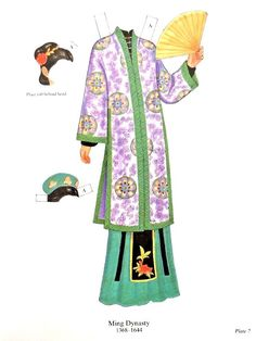 Traditional Chinese Women'S Fashions Paper Dolls 2 Dolls 16 Pages Clothes | eBay