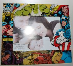 Avengers Thor Hulk Captian America Hawkeye Iron Man Marvel Comic Book Picture Frame