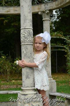 El otoño  Vestido de Florista de encaje vestido de encaje