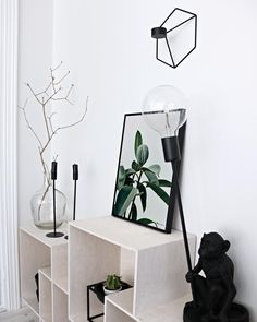 Green Plant Poster by www.peopleoftomorrow.no // Click the image to shop! #spring #greenplant #interiorposter #poster #wallart #art #artwork #photoposter #photography #interior #scandinavian #nordic #homedecor