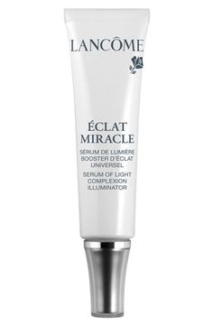 Free shipping and returns on Lancôme 'Éclat Miracle Serum of Light' Complexion Illuminator at Nordstrom.com. Liquid-mirror particles scatter at the surface of the skin to produce a continuous illuminating effect. Immediately, every complexion lights up with a new perfection. Can be used alone, mixed with foundation or used on top of foundation as a highlighter.- 0.67 oz.