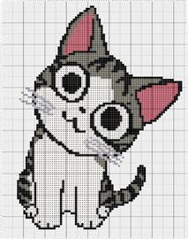 Items similar to Chi's Cat 2 by modern kanavice on Etsy Cross Stitch Bookmarks, Beaded Cross Stitch, Cross Stitch Embroidery, Funny Cross Stitch Patterns, Cross Stitch Charts, Pull Bebe, Crochet Cat Pattern, Embroidery Stitches Tutorial, Stuffed Animal Patterns