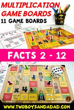 Multiplication is taught many ways. With this game board, students practice multiplication facts with arrays, skip counting, equal groups and multiplication sentences. Eleven game boards in COLOR and BLACK AND WHITE versions help students practice the multiplication tables 2 - 12. Five versions with available with different themes: pirates, ninjas, zombies, school kids and generic. Come check out the PREVIEW!