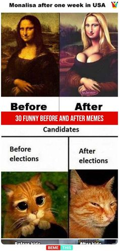 30 Funny Compilation of Before and After Memes #BemeThis #Funny #Memes #BeforeAndAfter #Humor #LOL #FunnyPicturtes