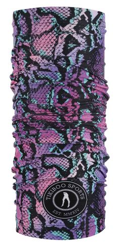 Boost your training with the sleek Petrol Python TikiTube, a breathable sports scarf and must-have hair accessory. Featuring shades of purple, turquoise and black, this vibrant reptile design makes a fierce workout headband or sweatband.  The soft stretchy fabric is lightweight even when it wicks away sweat and can be quickly transformed into a snood, ski scarf or beanie hat for cooler climates. Tuck it into your pocket or bag for instant relief from wind and chills. Workout Headband, Shades Of Purple, Hair Accessory, Beanie Hats, Python, Ski, Scarves, Vibrant, Training
