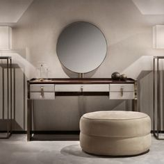 Modern Italian Wenge And Nubuck Dressing Table And Mirror at Juliettes Interiors - Chelsea, London. Dresser Table, Wooden Console Table, Modern Dressing Table Designs, Luxury Furniture, Furniture Design, Modern Bedroom, Bedroom Decor, Sophisticated Bedroom, Vanity