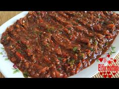 Paste Recipe, Arabic Food, Turkish Recipes, Salad Recipes, Spicy, Salads, Food And Drink, Appetizers, Pasta