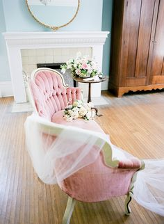 Wedding veil by Alice & Mae Bridal.  Style Meets Southern Charm at Glen Leven Farm wedding in Nashville, TN.  Via Style Me Pretty