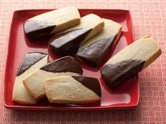 Shortbread Cookies : Ina makes simple, classic shortbread cookies and dresses them up with a little drizzle of melted chocolate.