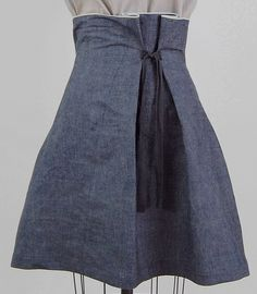 denim tie skirt | Flickr Martha McQuade