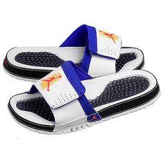 aa4297b42781f9 Nike Jordan Hydro VIII 8 Retro Mens 385073-113 White Concord Slide Sandals  Sz 10