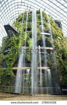 Garden Structures Inside Cloud Forest Dome at Gardens by the Bay - 101 hectares of reclaimed land in Singapore