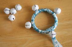 Snowflake Jingle Bell Ribbon Ring