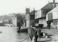 St Ives, Cornwall - Before the wharf wall was built. St Ives Cornwall, Cornwall England, Old Pictures, Old Photos, Fishing Villages, Print Artist, Vintage Photographs, Far Away, Coastal Living