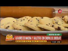 Receta dulce: alfajores de maicena y galletitas con chispas de chocolate - YouTube