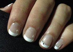 Prom nails. French tip with a little sparkle