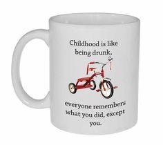 Drunk Childhood Coffee or Tea mug