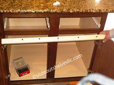 Step 3. Remove Center Stile Cabinet Face Frame Kitchen Cabinet Shelves, Diy Cabinet Doors, Diy Kitchen Storage, Diy Kitchen Cabinets, Storage Cabinets, Kitchen Ideas, Kitchen Drawers, Cabinet Ideas, Kitchen Remodeling