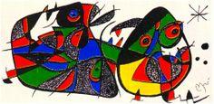 "Original Lithographs Dimensions: W:16"" x H:8"" Miro Sculptor -Italy £350 Miro Lithographie V (1972 - 1975) - Maeght Editeur (Catalogue Raisonee)- No  939  Medium: Original lithographs in colours, 1974, On heavy cream wove Guarro paper, signed in the stone"
