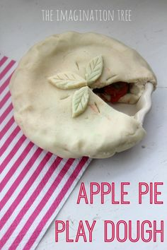 Apple pie play dough- with natural vanilla and apple scented dough recipes included!