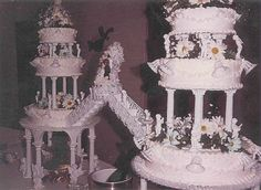 """Big Wedding Cakes with Fountains   Wedding Cake 2006"""" pic. Bride brought me a pic of her sister's wedding ..."""