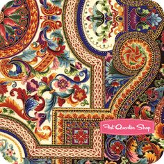 use this to make a fabulous medallion quilt. Florentine 4 Jewel Intricate Mosaic Yardage SKU# 5086-201 - Fat Quarter Shop